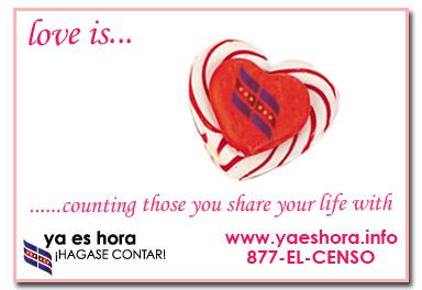 Love is... Census Postcard