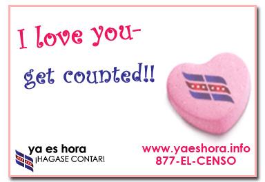 I love you... Census Postcard